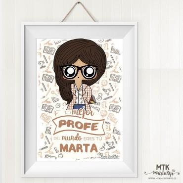 Lámina personalizada MTK Profesora