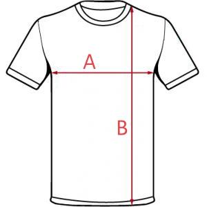 Esquema medidas camiseta