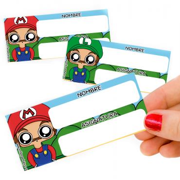 Pegatinas libros Mario Bros