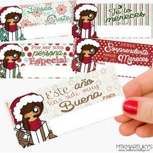 Pegatinas regalo de Navidad