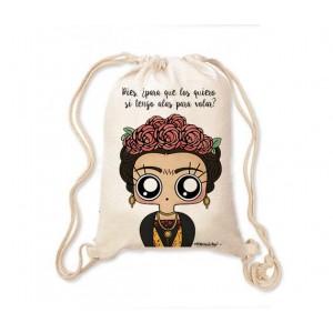 Mochila saco MTK Frida Kahlo