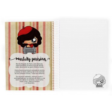 Cuaderno A5 MTK Parisina