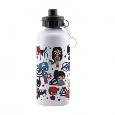 Botella aluminio MTK Superheroes